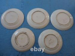 5 Antique Chinese famille rose porcelain dishes, late 19th Century