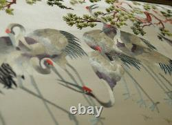ANTIQUE 19th C LATE QING CHINESE HAND EMBROIDERED SILK HANGING PANEL EMBROIDERY