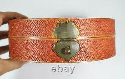 ANTIQUE CHINESE QING MANDARIN COURT NECKLACE BEADS BOX LATE 19th C