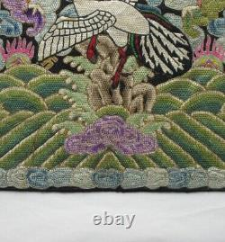 ANTIQUE CHINESE RANK BADGE, late 19th Cent. Embroidery, ethnic, collectors