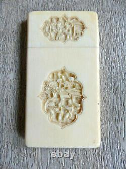 ANTIQUE LATE 19th CENTURY CHINESE CANTONESE CARD CASE 1880's (#2)