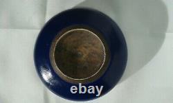 ANTIQUE ca 1900 CHINESE PORCELAIN BRUSH WASHER DARK BLUE LATE QING