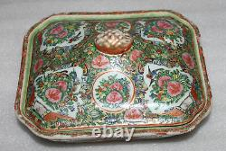 A 10 Late C19th Chinese Cantonese Famille Rose Medallion Gold Tureen+Lid