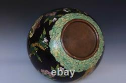 A Large Late Qing Dynasty Antique Chinese Cloisonne Peach Vase