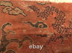 Antique Chinese 17C Late Ming/Early Qing Yunjin brocade dragon panel