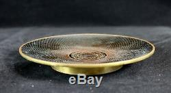Antique Chinese Black Cloisonne Plate/ Dish 6-1/8DLate Qing/ Republic