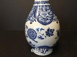 Antique Chinese Blue and White Bottle Vase, Late Ming or Kangxi period