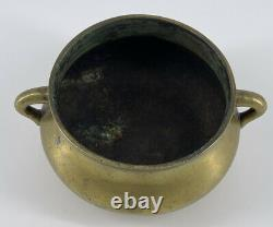 Antique Chinese Bronze Censer Incense Burner Xuande Mark Late Ming Early Qing