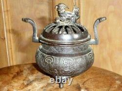 Antique Chinese Bronze Incense Burner late Qing Dynasty