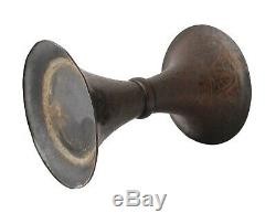 Antique Chinese Bronze Trumpet Gu Shape Vase Late Ming Qing Dynasty 17th Century