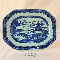Antique Chinese Canton Cobalt Blu 13 Platter Aesthetic Movement Mid-late 1800's