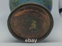 Antique Chinese Copper/Bronze Cloisonne Vase - Circa 1900, Late Qing Dynasty or