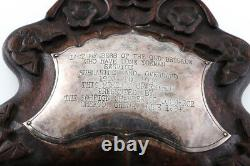 Antique Chinese Export Silver Panel Calligraphy Late Qing Dynasty Present