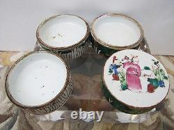 Antique Chinese Late 1800 / Early 1900 Porcelain Stacking Trinket Dish Trays