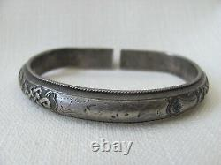 Antique Chinese Late Ching Period Silver Bangle / Bracelet