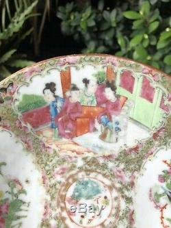 Antique Chinese Late Qing Famille Rose Brush Box and Plate
