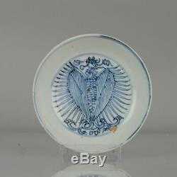 Antique Chinese Porcelain Late Ming or Transitional Plate Fenghuang