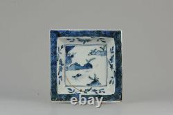 Antique Chinese Porcelain Late Ming or Transitional Plate Landscape z