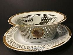 Antique Chinese Reticulated Chestnut Basket with Undertray, late 18th Century