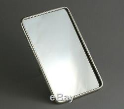 Antique Chinese export silver mirror, by Wang Hing, late 19th century