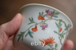 Antique Chinese teacup in famille rose, Late Qing / Republic #686