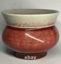 Antique Late Qing Republic Chinese Red Flambe Oxblood Sang de Boeuf Incense
