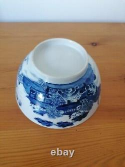 Antique chinese late 18thc ceramic blue and white bowl