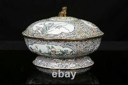 CHINESE CANTON ENAMEL BOWL AND COVER. Late Qing Dynasty, 19th Century. 1875-1908