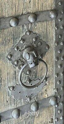 Chinese Antique Temple Doors Wood and Iron Late 18th Early 19th Century