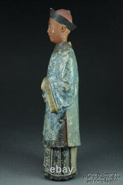 Chinese Export Pottery Nodder Figure, Court Hat & Robe, Late 18th/Early 19th C