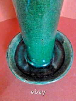 Chinese Green Shiwan Pottery Oil Lamp South China Late Qing Dynasty One C. 1900