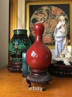 Chinese Late Qing Or Republic Copper-red Glaze Vase