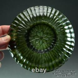 Chinese / Mughal Nephrite Spinach Jade Bowl / Lid, Late 19th to Early 20th C