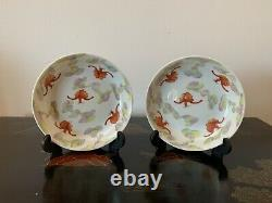 Chinese Pair Of Late Qing Dynasty Porcelain Bowls