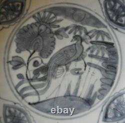 Chinese Porcelain Blue & White Dish Ming Dynasty Late 16th Century Label