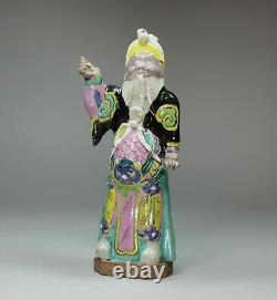 Chinese famille-rose figure of Guandi (God of War), late 18th century
