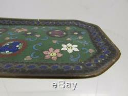 Chinese late Qing early republic period Cloisonne Plate rare geometric patterns