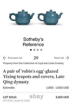 Chinese pair of robin's egg glazed porcelain vases Late Qing as Lamps