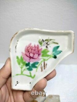 Fine Antique Chinese enamel Porcelain sweet meat dish Late Qing-Early Republic