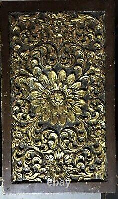 Heavily Carved Chinese Jewelry Box Gilted Late 1800s