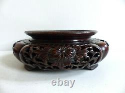 LATE 19th CENTURY / EARLY 20th CENTURY CHINESE WOOD STAND (#6)