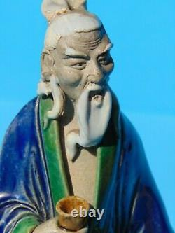 Large Chinese Shiwan MudMan Late Qing or Early Republic 28 cm