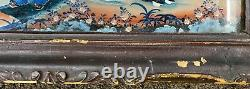 Late 18th c Qianlong Chinese Export Églomisé Reverse Painted Glass or Mirror
