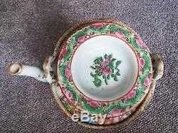 Late 19th Century Antique Chinese Porcelain Export Teapot
