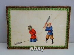 Late 19th To Early 20th Century Chinese Pith Painting Execution