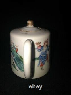 Late 19th century chinese porcelain teapot