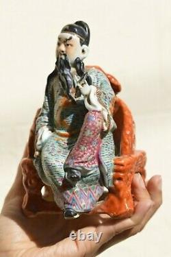 Late Qing Republic Chinese Porcelain Dignitary Figure
