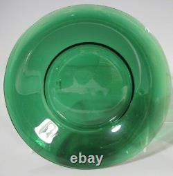 Pair China Chinese Peking Beijing Green Glass Plate late Qing Dynasty 19-20th c
