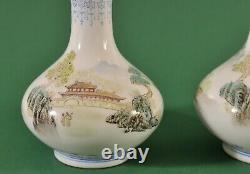 Pair of Antique Chinese Eggshell vases, late 19th century