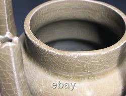 RARE 11th C. Longquan Celadon 5 Tube Spout Grain Jar Late Northern Song Chinese